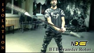 Фаер-шоу. Уроки Шест (Spin staff) стиль ISOLATION - BTB transfer rotor