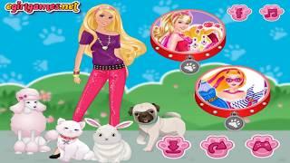 Барби открыла салон для животных! Barbie opened her salon for the animals!