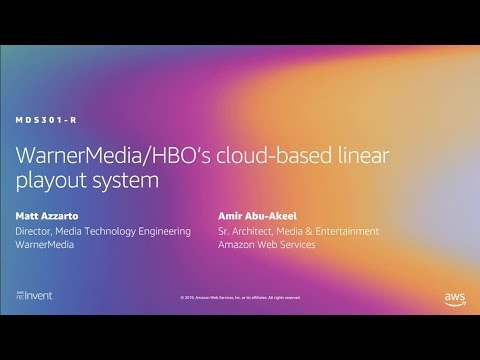 AWS re:Invent 2019: WarnerMedia/HBO's cloud-based linear playout system (MDS301)
