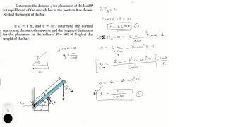 Determine the distance d f๐r placement
