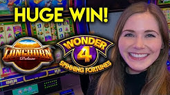HUGE BONUS WIN! Wild Leprecoins Slot Machine! Full Line Of Wilds!