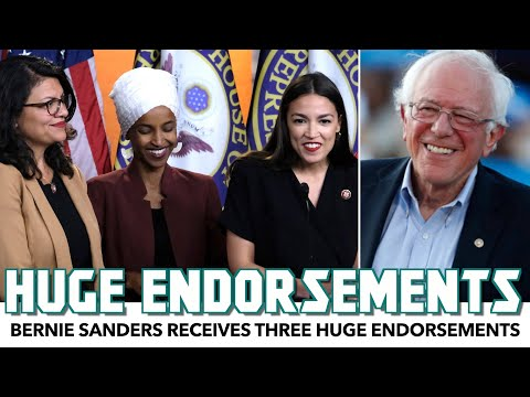 Bernie Sanders Receives Three HUGE Endorsements