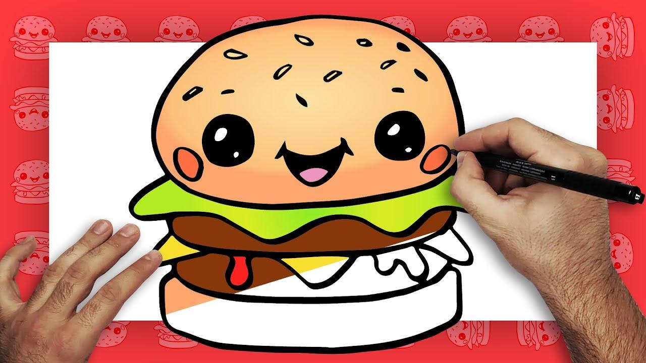 Como Dibujar Una Hamburguesa Kawaii Dibujando Con Laraytoons