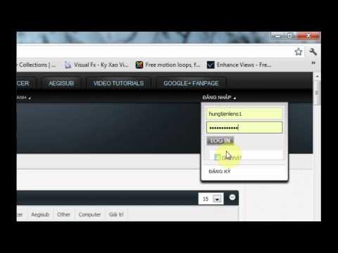 Hướng dẫn tải các phần mềm, tài nguyên làm sub ( Aegisub )