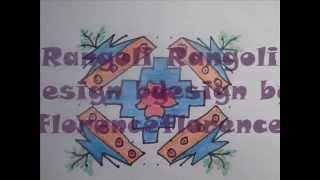 12 to 12 tulsi Rangoli Design
