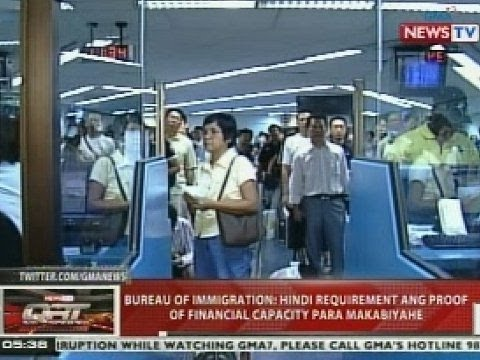 QRT: Bureau of Immigration: Hindi requirement ang proof of financial capacity para makabiyahe