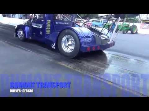 FUNNY TRUCK DRAG RACE FASTEST MACK TRUCK RACING DUMONT TRANSPORT