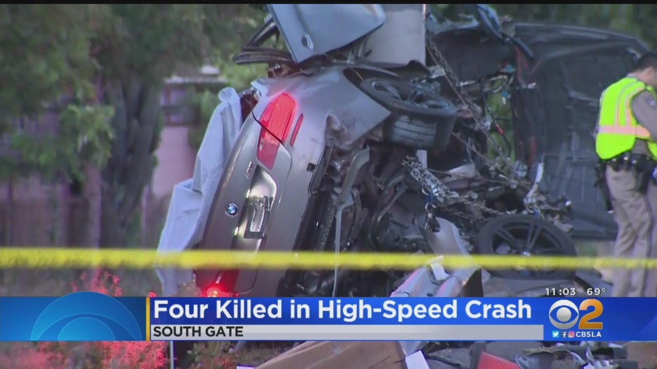 4 Men Killed In High-Speed Crash Into 710 Freeway Sign