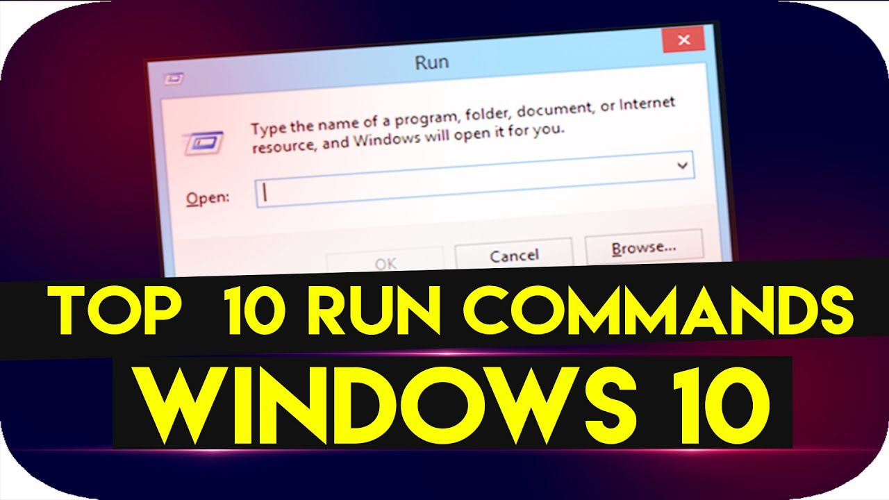 Top 10 Run Commands every Windows 10 user Must Know 2017 - HINDI
