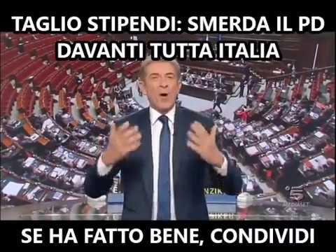 EZIO GREGGIO SVERGOGNA IL PARTITO DEMOCRATICO IN DIRETTA TV -