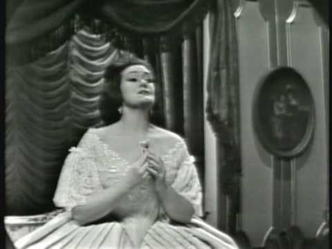Joan Sutherland. La Traviata. 1963. É strano. Ah, forse lui. Sempre libera.