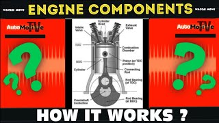 How Engine Works ( Parts and Components of Engine )