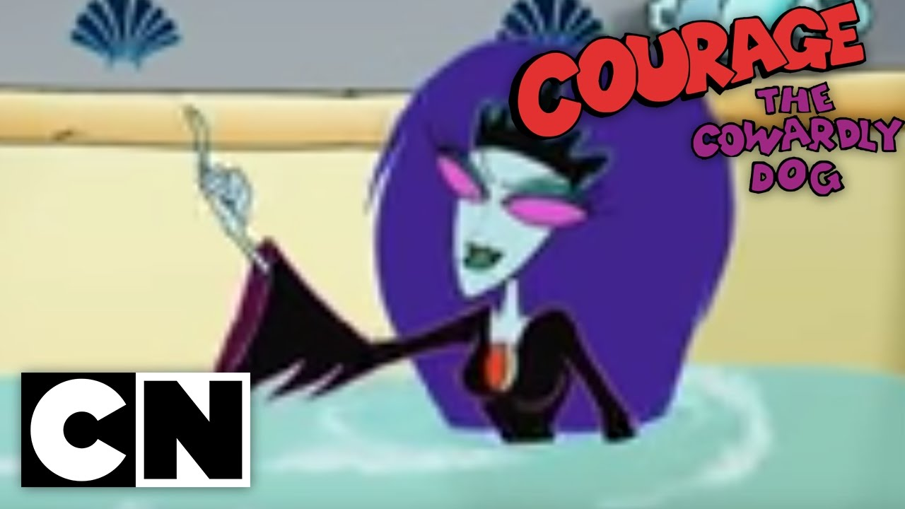 courage the cowardly dog queen of the black puddle youtube