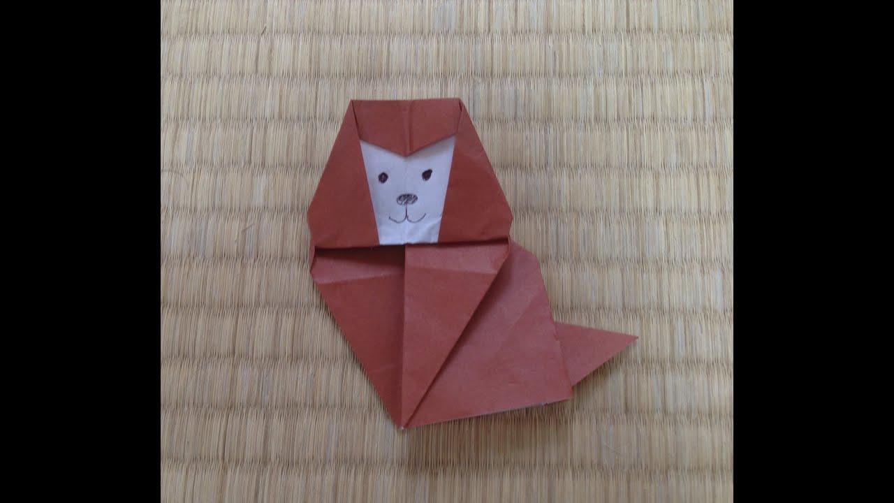 すべての折り紙 youtube 折り紙 : 折り紙 猿 折り方 作り方 ...