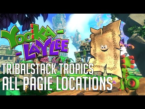 Yooka-Laylee TRIBALSTACK TROPICS ALL PAGIE LOCATIONS