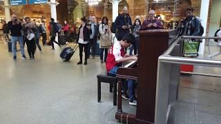 Bohemian Rhapsody Piano Cover St Pancras International Train Station Cole Lam 12 Years Old