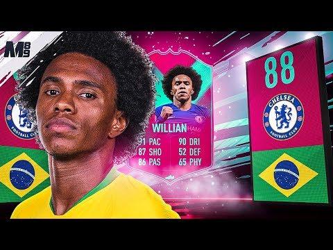 FIFA 19 FUT BIRTHDAY WILLIAN REVIEW | 88 FUT BIRTHDAY WILLIAN PLAYER REVIEW | FIFA 19 ULTIMATE TEAM