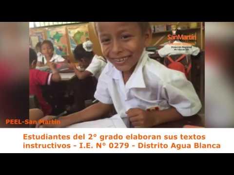 Estudiantes de 2° grado elaboran sus textos instructivos - I.E. 0279 - distrito Agua Blanca