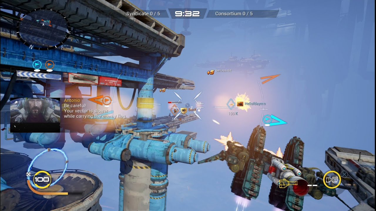 Strike Vector EX - Capture The Flag Gameplay