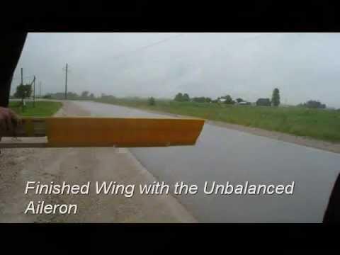 Flutter effect. Wing model