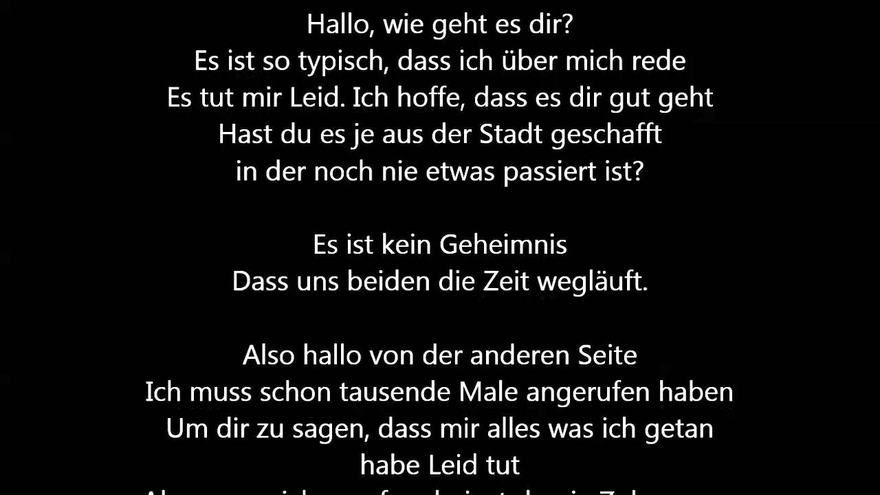 liebeslieder deutsch youtube