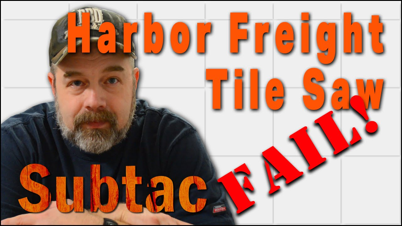 Harbor Freight Tile Saw Embly And Pump Fail