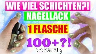 LIVE TEST: Wie viel Schichten Nagellack sind in einer Flasche?! | SoSoUnnötig #2 | SofiaBeautyCafe