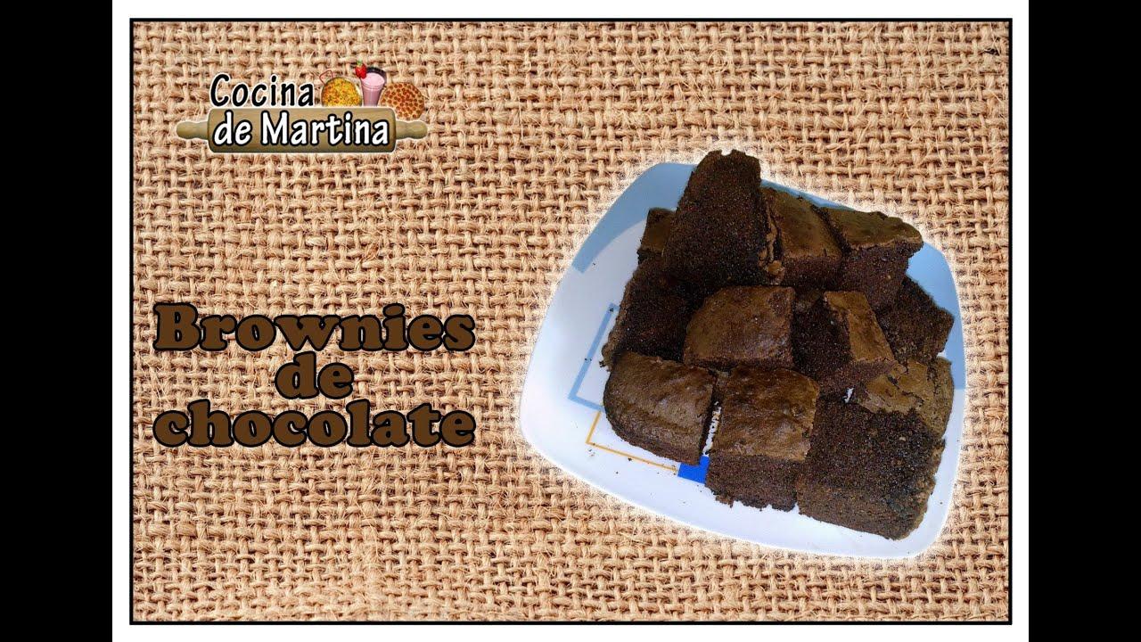 C mo hacer brownies de chocolate recetas de cocina for Cocina de martina