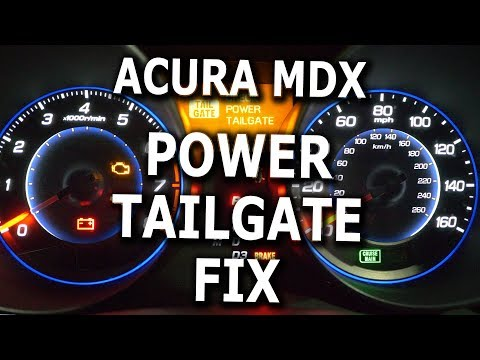 Acura MDX Power Tailgate fix DIY