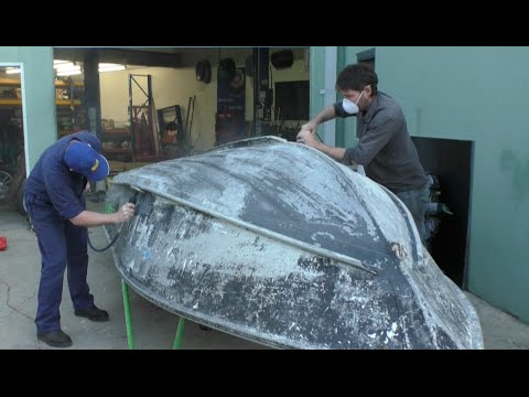 Repairing and anti-fouling the hull