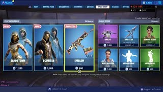 SANDSTORM et SCIMITAR! 13 juin New Skins - Fortnite Item Shop Live (Fortnite Battle Royale)