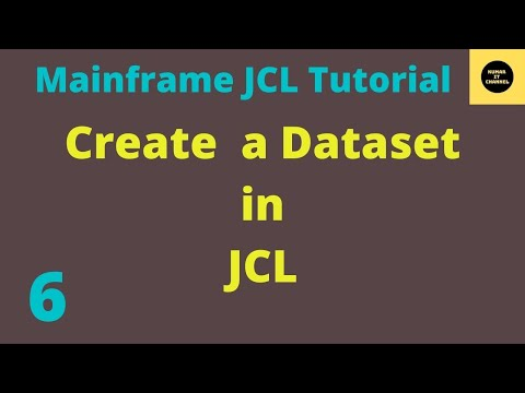 Mainframe Tutorial to Create a Dataset