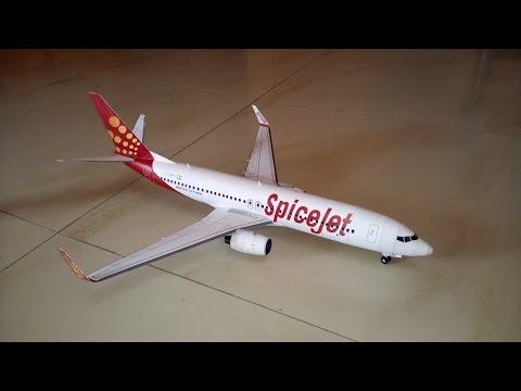 Boeing 737-800 SpiceJet Paper Model