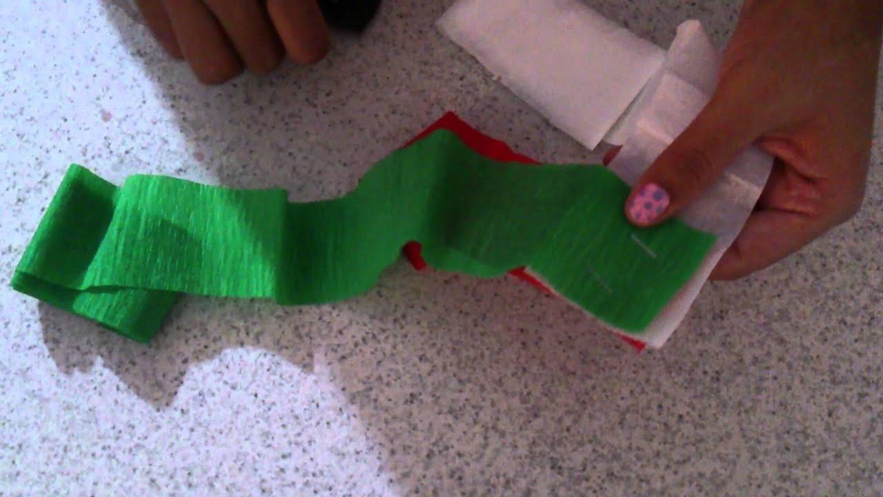 Como hacer cadenas con papel crepe - Como hacer cadenetas de papel para fiestas ...