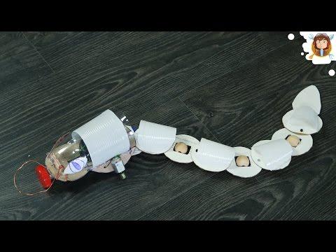 Как сделать робота-змею своими руками