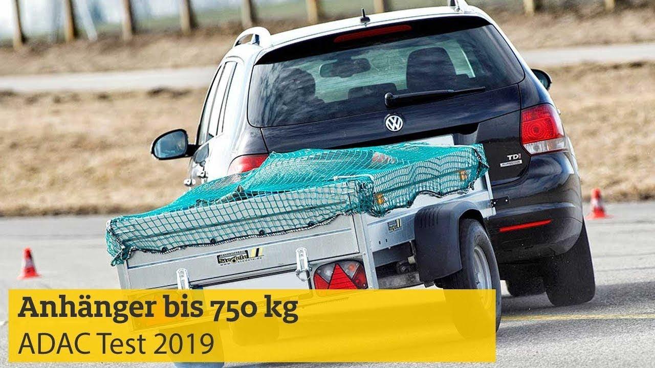 ADAC Test: Anhänger bis 750 kg I ADAC 2019 - YouTube