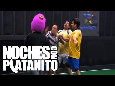 Platanito juega Gol al Toque con Cuauhtemoc Blanco, Victor Salas, y El Burro