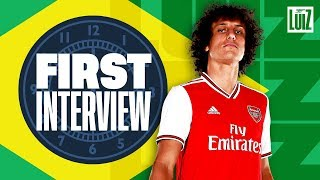 'I'm happy Lacazette & Aubameyang are on my side now!' | David Luiz's first Arsenal interview