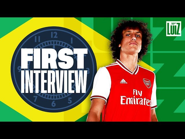 'I'm happy Lacazette & Aubameyang are on my side now!'   David Luiz's first Arsenal interview