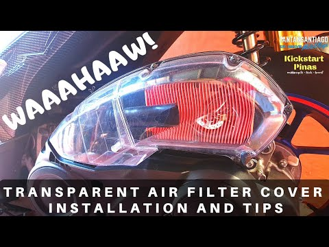 Yamaha Aerox 155 Transparent Air Filter Modification | Installation and Tips