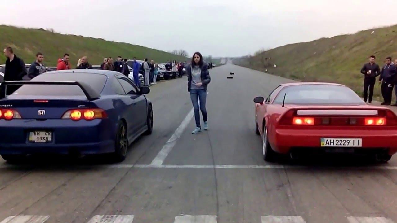Drag Race Acura NSX vs Honda Integra TYPE R Dragracing ...