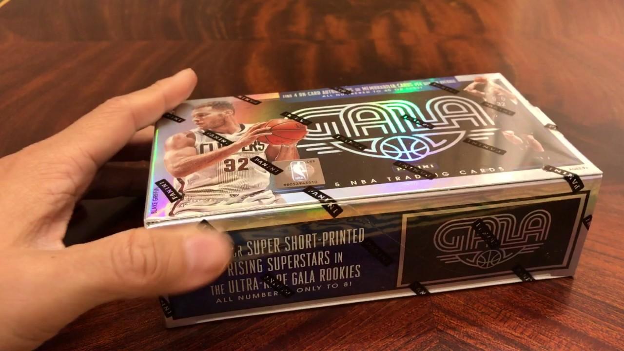 2015-2016 1516 Panini Gala NBA basketball cards 籃球卡 球員卡 拆卡 開盒 分享 - YouTube