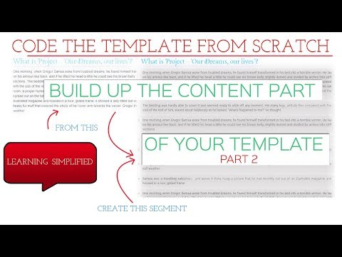 Code Template from Scratch - Responsive Grid CSS layout part 2