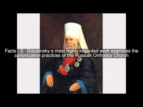 Yevgeny Golubinsky Top  #6 Facts