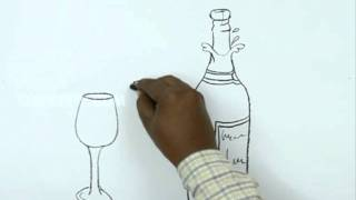 How to Draw a Champagne