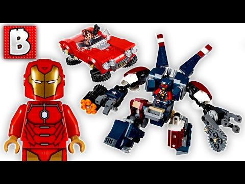 Lego Ironman Detroit Steel Strikes Marvel Set 76077 | Unbox Build Time Lapse Review
