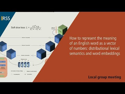 How to represent the meaning of an English word as a vector of numbers...