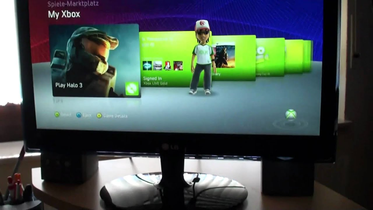 how to connect xbox 360 to monitor