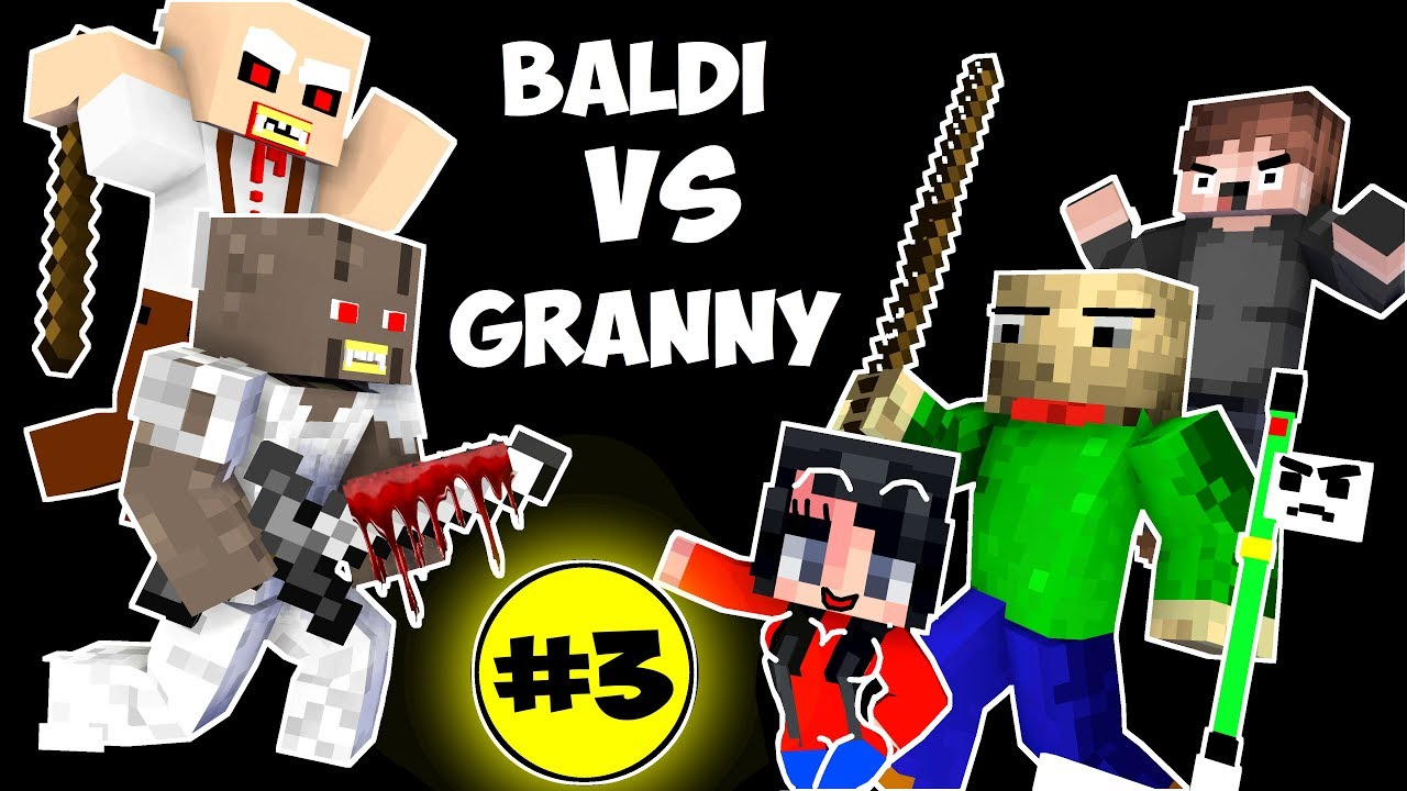 Monster School : BALDI'S BASICS VS GRANNY CHALLENGE PART 3 - Minecraft Animation Kids Mobs