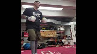"ANDY RUIZ FIRST TRAINING FOOTAGE.. ""BACK TO BASICS!"""